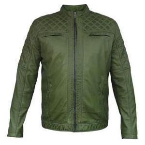 Men's Green Leather Jacket | Biker Jackets