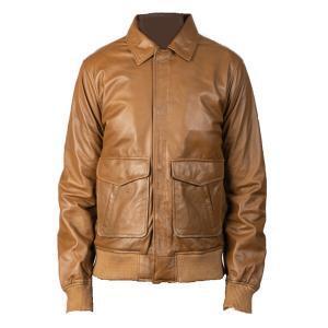 Men's Coffee Brown Bomber Jacket