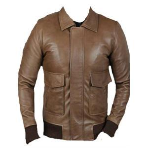 Men's Bronze Bomber Leather Jacket