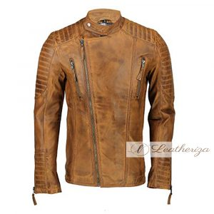 Voguish Vintage Classic Brown Men's Leather Jacket