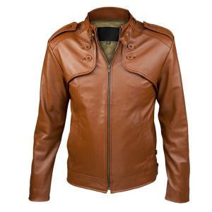 Camel Brown Men Leather Jacket