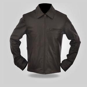 Charcoal - Men's Leather Jacket