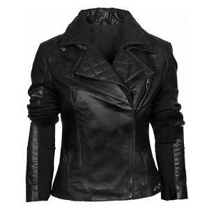 Layered- Men's Black Leather Jacket