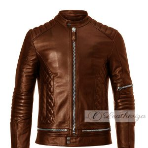 Chocolate Brown Voguish Men's Leather Jacket