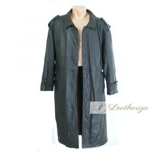 Peacock Dark Gray Blue Trench Coat For Women