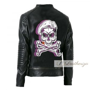 Skull Black Leather Jacket